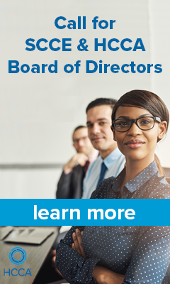 Call for SCCE & HCCA Board of Directors