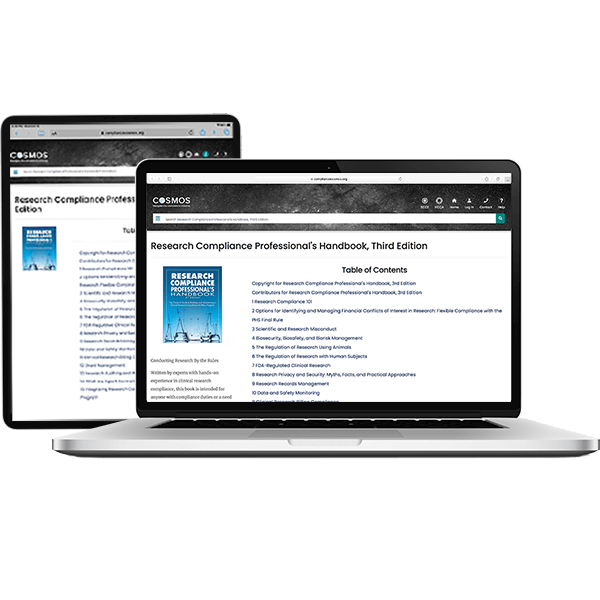 Research Compliance Professional's Handbook online access