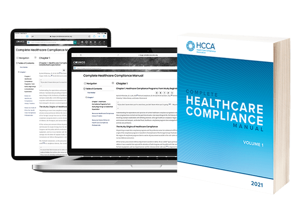 Complete Healthcare Compliance Manual  Softcover Book & One Year Online Subscription