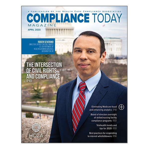 Compliance Today April Cover
