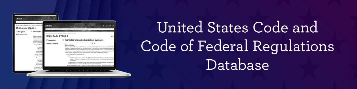 United States Code and Code of Federal Regulations Database